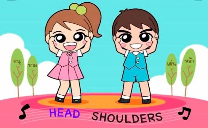 Head, Shoulders, Knees And Toes letra y vídeo de esta famosa canción con para aprender las partes del cuerpo en inglés