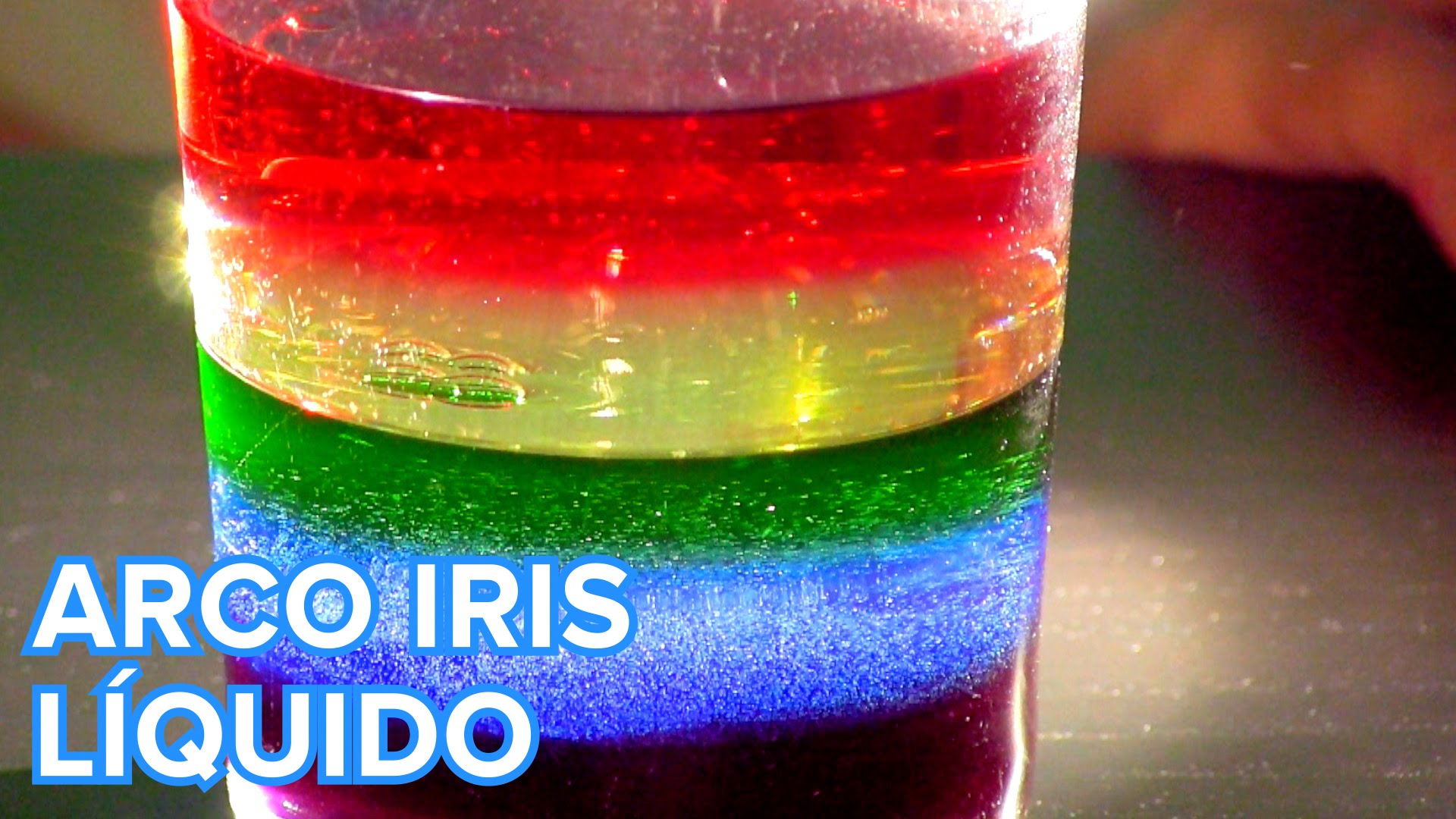 EXPERIMENTO: ARCO IRIS LÍQUIDO | Portal educativo educaciondivertida.com