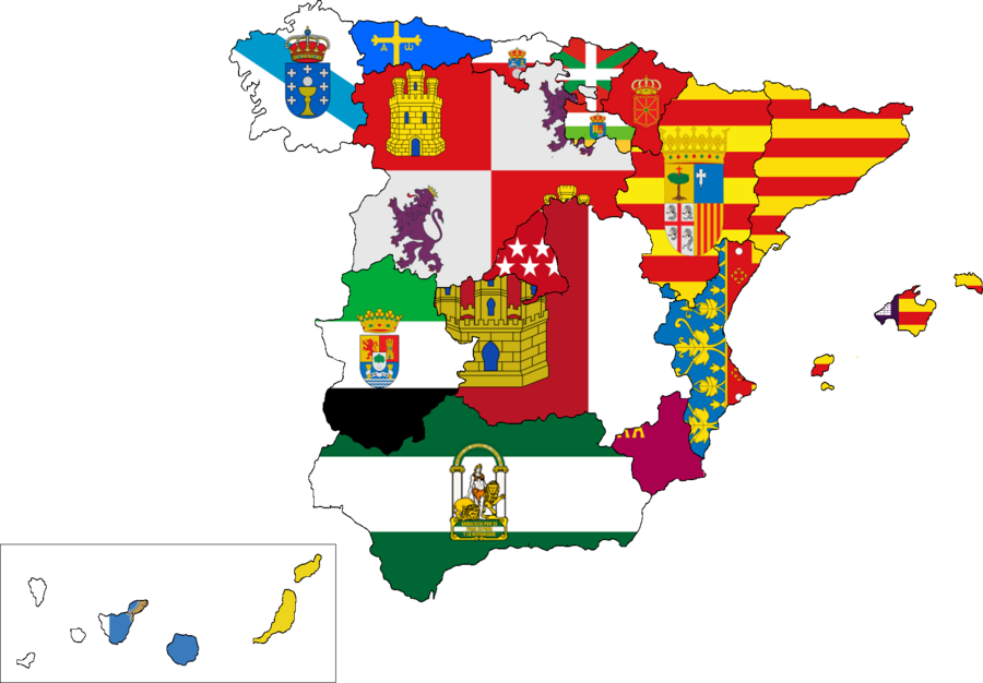 Mapas físicos y políticos de España