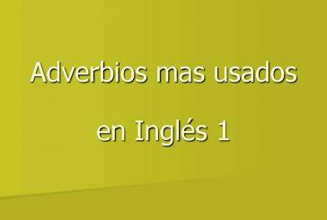 Adverbios en inglés con sus signficados y pronunciación [Vídeo]