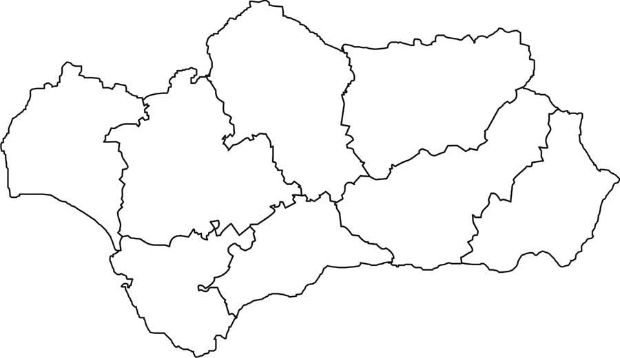 Mapa mudo Andalucía