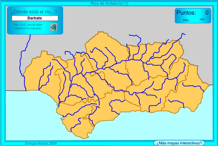 Mapas políticos y geográficos de Andalucía