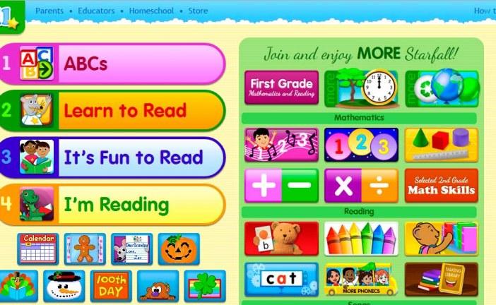 Interesante web educativa para aprender todas las áreas en Inglés con Star Fall