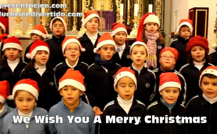 We wish you a merry Christmas – Villancico en inglés