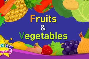 Aprender vocabulario en ingles de las frutas y las verduras