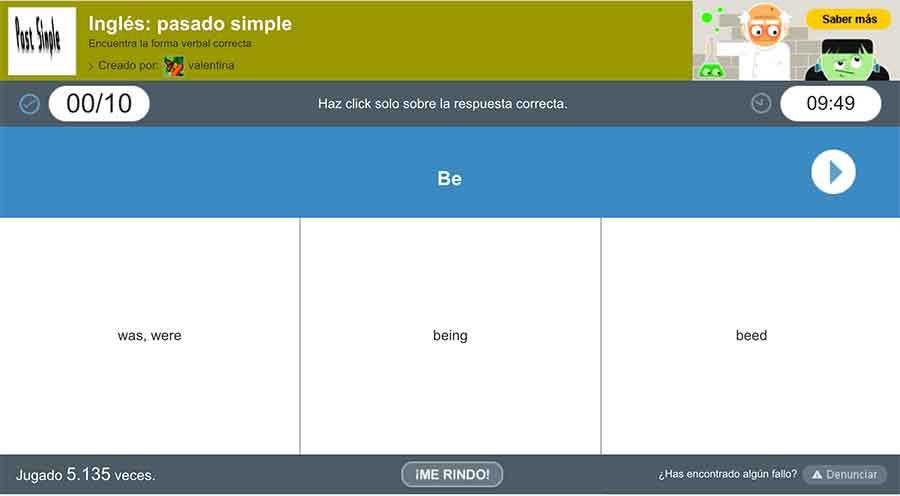 Aprende de manera muy sencilla el Pasado Simple en inglés