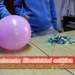 Electricidad estática con globos - Experimento escolar