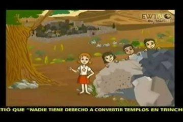 Vía crucis en dibujos animados
