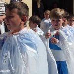 Procesión de Semana Santa realizado con materiales caseros