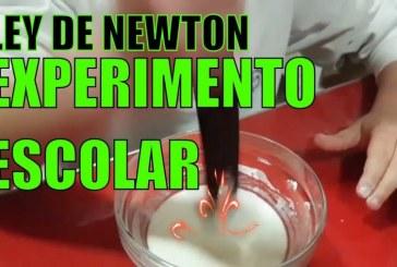 Experimento escolar – Mezcla no Newtoniana