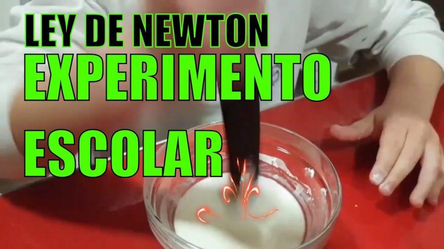 Experimento escolar - Mezcla no Newtoniana