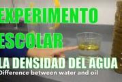 Experimento para comprobar la densidad del agua