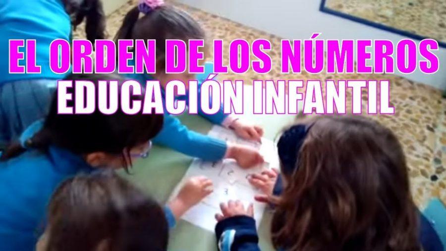Ordenar los números   Educación infantil 3 años