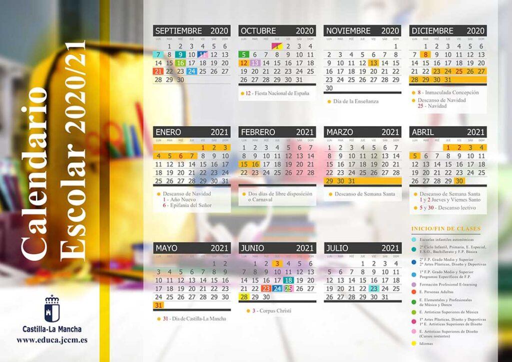 Calendario escolar Castilla La Mancha 2020-2021