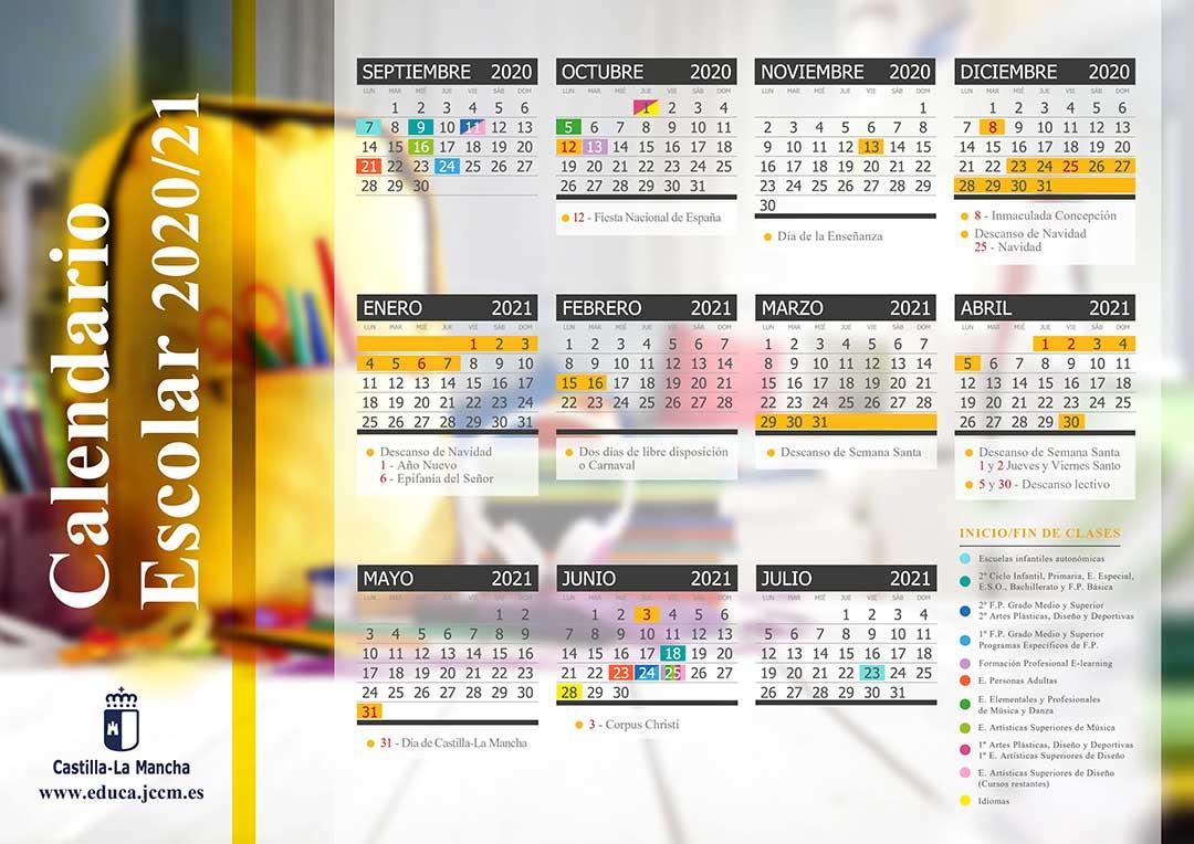 Calendario escolar de Castilla La Mancha
