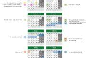 Calendario escolar Granada para el curso escolar 2020-2021