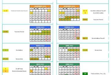 Calendario escolar Jaén para el curso 2020-2021 [Descargar]
