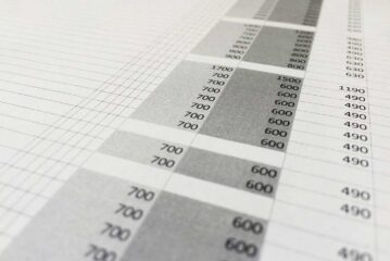 Tabla excel de registro de notas