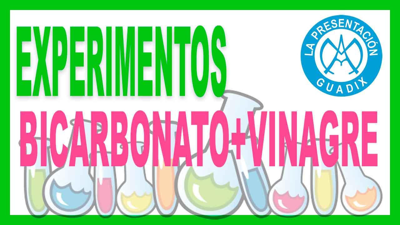EXPERIMENTO bicarbonato mas vinagre
