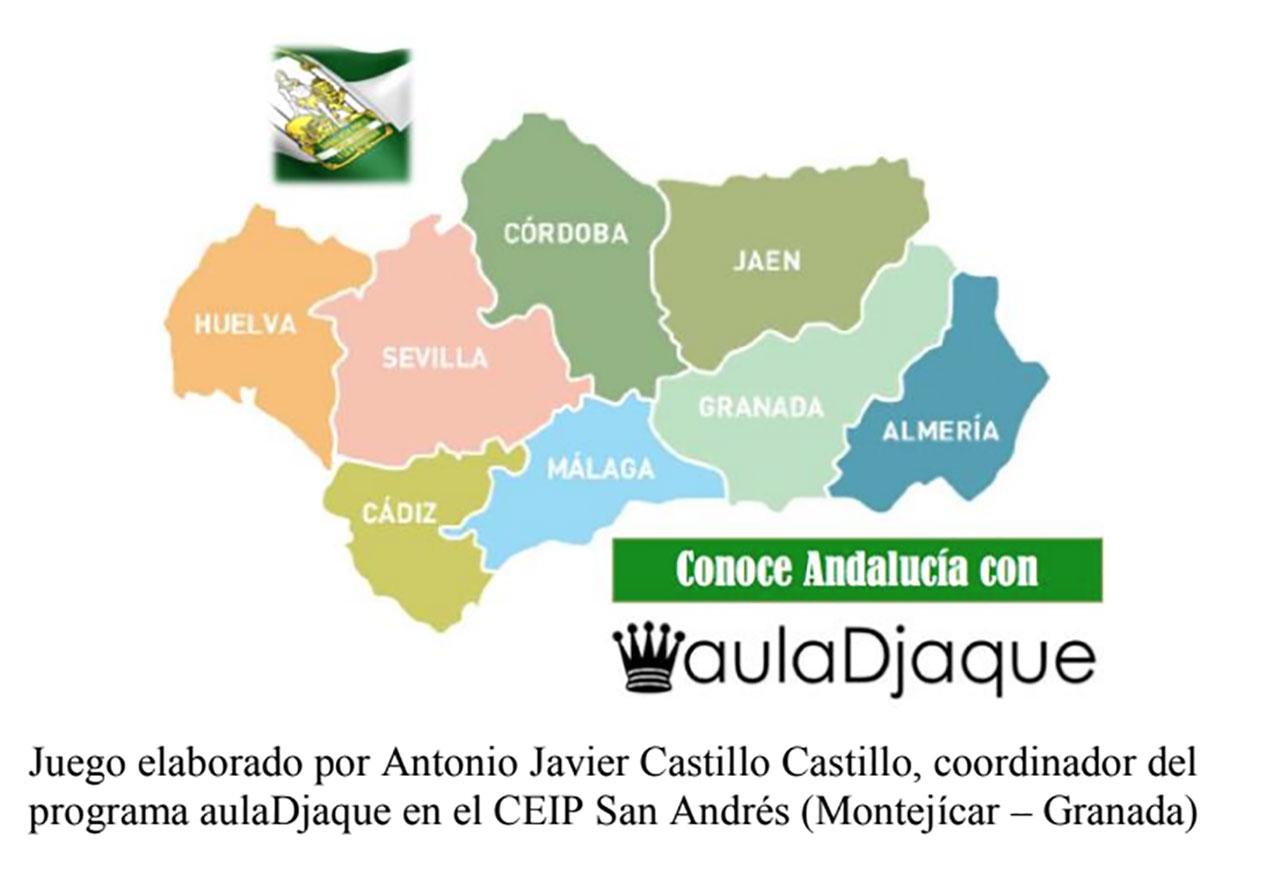 Juego de ajedrez escolar y Andalucía