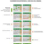 Calendario escolar Granada para el curso 2021-2022 [Descargar]
